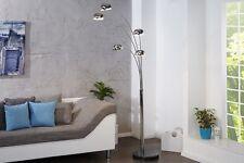 design Lampadaire en argenté avec pied marbre 200 cm haut 5 BRAS NEUF