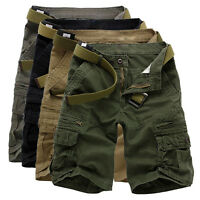 Mens Military Army Combat Tactical Work Pocket Sport Pants Camo Cargo Shorts HOT