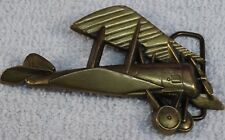 VINTAGE 1979 BELT BUCKLE AIRPLANE BBB BARON BUCKLE SOLID BRASS AVIATION #6122