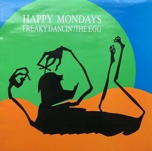 """HAPPY MONDAYS FREAKY DANCIN THE EGG FACTORY 12"""" VINYL RECORD FULLY PLAY TESTED"""