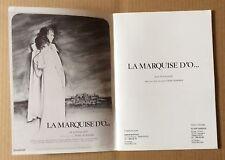 """Livret Synopsis """"La Marquise d'O"""" avec Edith Clever 1975 en Français et Allemand"""