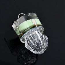 LED Deep Drop Underwater Diamond Flashing Fishing Light Squid Strobe Bait Lure Green