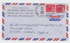 1965 US Army & Air Force APO 09329 Cover Sansum Turkey to England