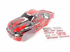 NEW TRAXXAS T-MAXX 3.3 4907 EXTENDED CHASSIS RED BODY WITH DECAL SHEET