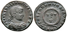 More details for constantius ii (320-321 ad) very rare follis. thessalonica #ra 9217