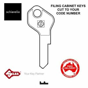 Schiavello Filing Cabinet Keys -Key Cut To Code Number-FREE POST!