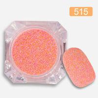 1 Box Nagel Kunst Glitter Sand Puder Gemischt Schimmer Nagel Deko DIY #515
