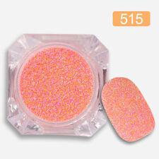 Mezcla de colores Mate Decoración de Uñas Brillo Polvo Polvo uñas de acrílico Decor #515