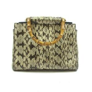 GUCCI nymphaea Small Python 2way Shoulder bamboo Bag 453767  Multicolor Used