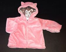 NWOT Gymboree Kitty Ballerina 12-18 Months Pink Faux Fur Coat with Ears
