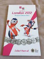 Royal Mint ALBUM London Olympics 2012 50p sport coins collector - 3