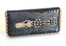 1fe8baf00e PORTAFOGLIO NERO ORO donna borsello pochette strass portamonete da borsa  F130