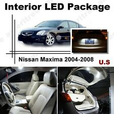 For Nissan Maxima 2004-08 Xenon White LED Interior kit + White License Light LED