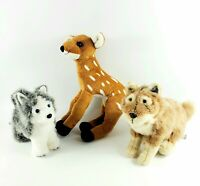 American Girl Doll Kaya Pet Set Pets lot Wolf Siberean Husky Deer plush animal