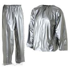Brillante Wet Look Glanz PVC Sudor Traje De Pista De Nylon DEPORTE HOMBRE S Chaqueta Pantalones