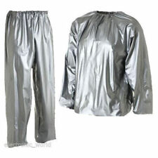 Shiny wet look glanz pvc sweat  nylon track suit sport mens S jacket pants