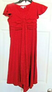 Speechless Red Shimmering/sparkly Short Sleeve Dress Girls Size 12