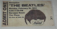 The Beatles Reproduction Capitol Records Reception Ticket 2/10/64 After Arrival