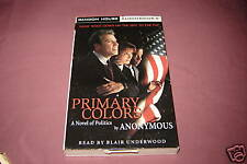 Primary Colors by Joe Klein (1996)USED audio book