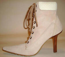 GORGEOUS ALDO PINK SUEDE LACE UP POINTY BOOTS size 41