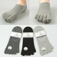 Nwt 5prs Unique Men's Low Cut Five Toe Socks Special for Finger Shoes Sneakers