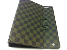 Ipad 2 3 4  Stand Case Cover Brown Checkered Design USA Seller