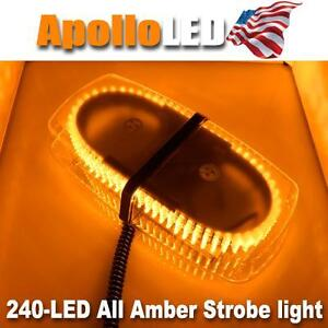 Amber LED Warning Emergency Truck Car 240-LED Snow Plow Safety Strobe Light Bar