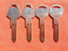 4 ROADRUNNER CHALLENGER GTX DART NOS KEY BLANKS 1969 1970 1971 1972 1973 1974