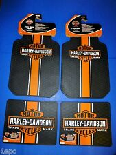 Harley Davidson Classic Front Rear Rubber Floor Mats Logo 4 Pcs Set Truck SUV