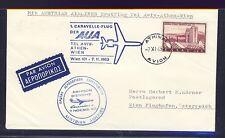 56283) AUA FF Athen - Wien 7.11.63, Brief, beide Stpl. blau!