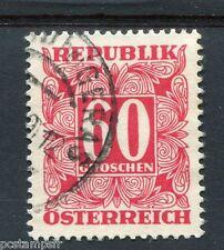 AUTRICHE, 1950-57, timbre TAXE n° 238, oblitéré