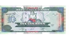 HAITI, 10 GOURDES, 2000, UNC