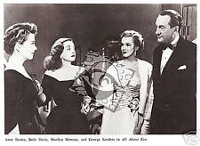 All About Eve publicity photo '50 Marilyn Monroe Baxter