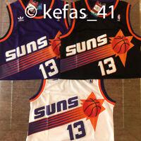 #13 Steve Nash Phoenix Suns Purple - Black - White Basketball Jersey