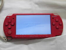 Y2899 Sony PSP 2000 console Deep Red Handheld system English menu