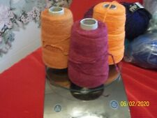 Lot of 3 Chenille Yarn on Cones ~ by Halcyon Yarn ~ Crafts ~ Weaving ~ Knitting