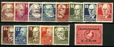 Germany 1948 Soviet Zone range of issues to include portraits, Goeth and  Stamps