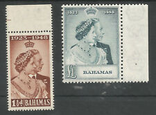 BAHAMAS THE  1948 GVI SILVER WEDDING PAIR SUPERB MNH MARGINALS CAT £45+