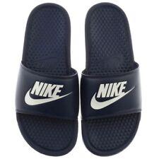 Nike Benassi JDI Mens UK 9 EU 44 Midnight Navy Blue Slides Sandals Sliders Shoes