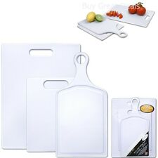 3-Piece Assorted Poly Cutting Board Set, Kitchen, Outdoor, Durable NEW
