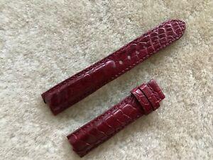 18mm/16mm Genuine Real Alligator Crocodile Leather Watch Strap Band Burgundy