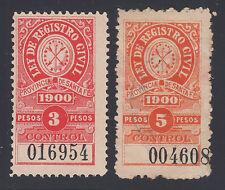 Argentina, Santa Fé, 1919-1933 Municipal Tax Fiscals, 9 diff