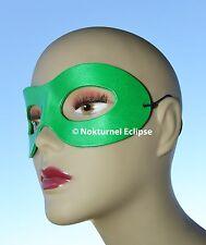 Green Leather Mask Superhero Lantern Masquerade Justice League Halloween Costume