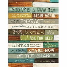 Today Is a new Day Inspirational Country Primitive Look 12 x 16 Wood Sign