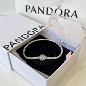 Genuine Pandora Heart Charm Bracelet Sterling Silver