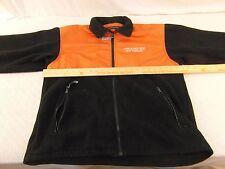 2010 Olympics Vancouver 100% Polyester Black Orange Zip Up Fleece Jacket 33724