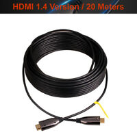 Ultra Slim Active Optic Fiber AOC High Speed HDMI Cable 1.4 Version 20 Meters