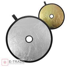 30 cm/2in1 Foto Plegable Reflector de Luz para Estudio de la lente-Plata/Oro
