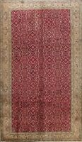 Antique All-Over Anatolian Turkish Oriental Area Rug Hand-knotted Wool RED 7x10