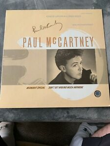 PAUL MCCARTNEY SIGNED ALBUM COVER W/VINYL COA AUTOGRAPHED